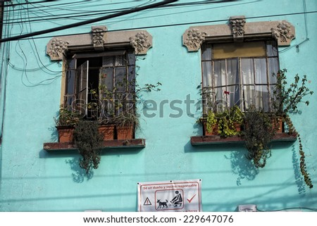 mexico city building detail view - stock photo