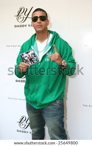 "MEXICO CITY - FEBRUARY 18 - Singer Dady Yankee attends the  ""Talento de Barrio"" new CD and "" Daddy Yankee"" New Fragance Launch at Universal Music Mexico Headquarters in Mexico City; Mexico February 18, 2009"