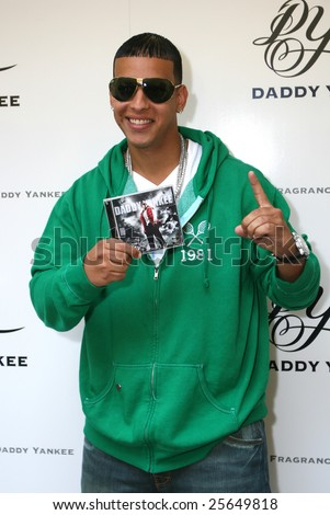"MEXICO CITY - FEBRUARY 18 - Singer Dady Yankee attends the  ""Talento de Barrio"" new CD and "" Daddy Yankee"" New Fragance Launch at Universal Music Mexico Headquarters in Mexico City; Mexico February 18, 2009 - stock photo"