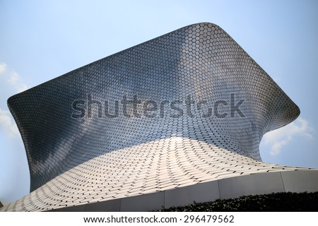 MEXICO CITY, MEXICO -  APR, 25, 2015: Soumaya museum with over 66,000 works from 30 centuries of art . Mexico City, Mexico on APR, 25, 2015.