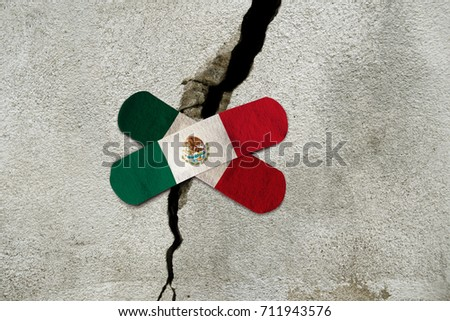 MEXICO CITY, MEXICO - September 8, 2017: Mexico experiences the strongest earthquake in over a century. Mexico has limited resources to help with recovery.