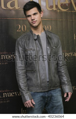 "MEXICO CITY-NOV 3: Actor Taylor Laughter attends the premiere for  ""The Twilight saga: New Moon"" Photo Call at 4 Seasons Hotel Mexico in November 3th 2009; Mexico City, Mexico."