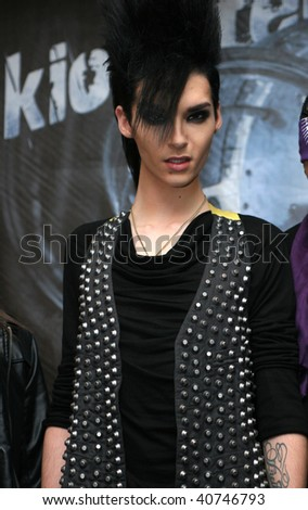 "MEXICO CITY - NOV 10: Bill Kaulitz, ""Tokio Hotel"" German band lead vocal attends the Photo-Call at Presidente Intercontinental Hotel Mexico on November 10, 2009 in Mexico City, Mexico. - stock photo"