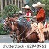 MEXICO CITY - SEPT 16: Military Parade on Avenue Reforma bicentenary. September 16, 2010. Mexico City - stock photo