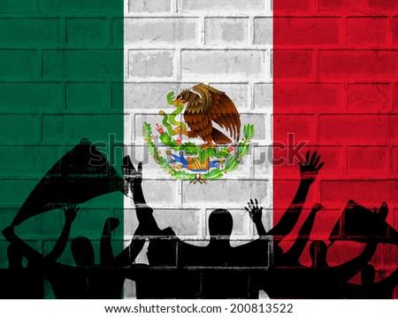 Mexico Flag background - stock photo
