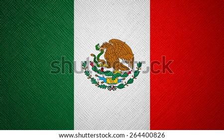 Mexico flag leather texture - stock photo