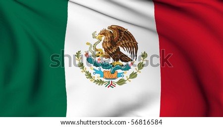 Mexico flag World flags Collection - stock photo