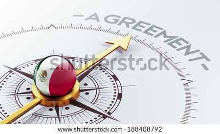 Mexico  High Resolution Agreement Concept - stock photo