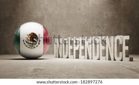 Mexico High Resolution Independence Concept