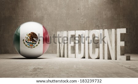 Mexico High Resolution Medicine Concept
