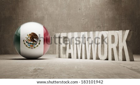 Mexico High Resolution Teamwork Concept
