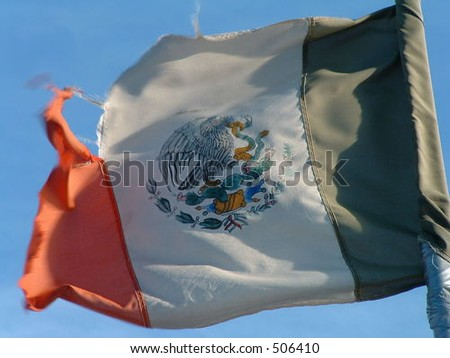 mexico's flag - stock photo