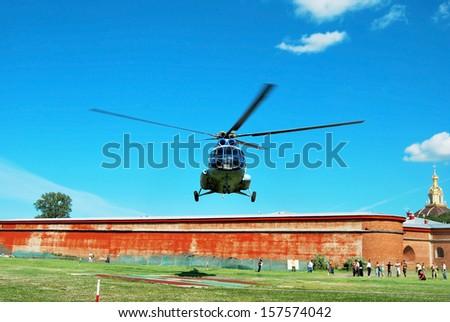 MI-8 helicopter  - stock photo