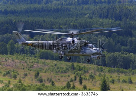 mi 24 hind helicopter - stock photo