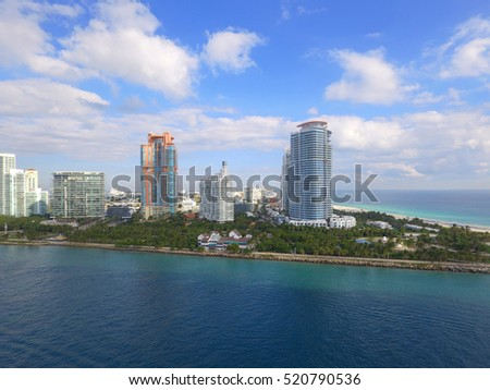 Miami Beach South Pointe Park aerial image