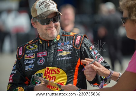 MIAMI, FL - Nov 15: Tony Stewart at the Nascar Sprint Cup Ford Ecoboost 400 practice at Miami Speedway in Momestead, FL on November15, 2014