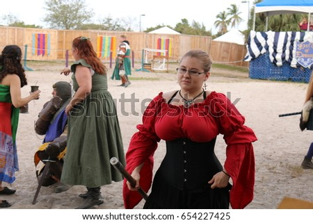 MIAMI FLORIDA - MARCH 12 2016 Knights battle at Renaissance Fair in authentic  sc 1 st  Shutterstock & MIAMI FLORIDA MARCH 12 2016 Knights Stock Photo (Download Now ...