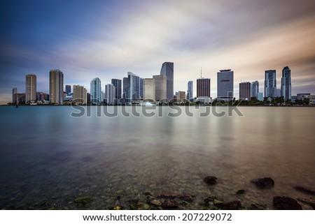 Miami, Florida, USA downtown cityscape. - stock photo