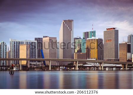 Miami, Florida, USA skyline. - stock photo