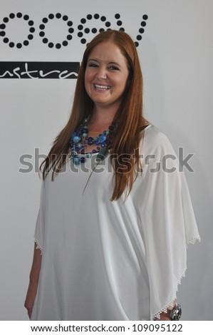 MIAMI - JULY 21: Designer Nikki Silverthorne poses at the Kooey 2013 Swimwear Presentation during Mercedes-Benz Swim Fashion Week on July 21, 2012 in Miami, FL - stock photo
