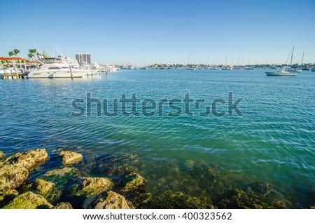 Miami port - Miami port one of the biggest paseanger port in USA - stock photo