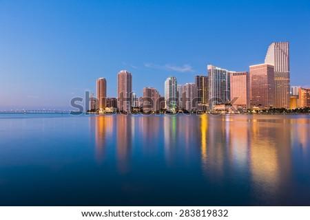 Miami Skyline - stock photo