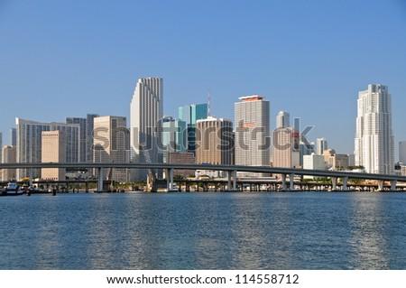Miami skyline, Florida, USA - stock photo