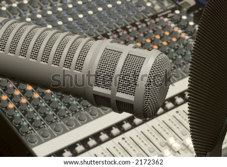 Mic with mixer background