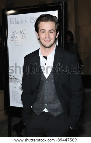 "Michael Angarano at the Los Angeles premiere of his new movie ""Snow Angels"" at the Grauman's Egyptian Theatre, Hollywood. February 28, 2008  Los Angeles, CA Picture: Paul Smith / Featureflash"