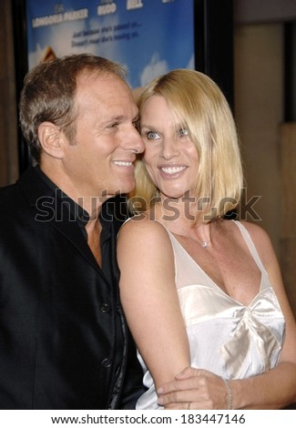 Michael Bolton, Nicollette Sheridan at OVER HER DEAD BODY Premiere, ArcLight Hollywood Cinema, Los Angeles, CA, January 29, 2008  - stock photo