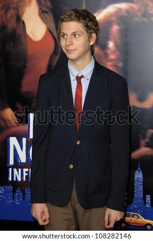 Michael Cera  at the Los Angeles Premiere of 'Nick and Norah's Infinite Playlist'. Arclight Hollywood, Hollywoood, CA. 10-02-08 - stock photo