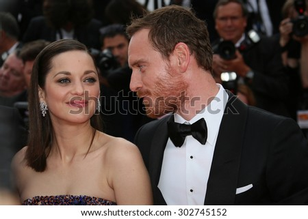 Michael Fassbender, Marion Cotillard attend the 'Macbeth' Premiere during the 68th annual Cannes Film Festival on May 23, 2015 in Cannes, France. - stock photo