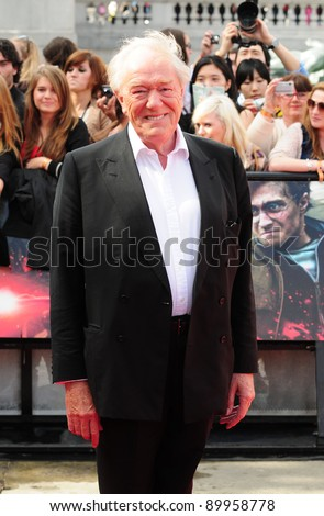 """Michael Gambon arriving for premiere of the final Harry Potter film """"Harry Potter and the Deathly Hallows Part 2,  Trafalgar Square, in London. 07/07/2011 Picture by: Simon Burchell / Featureflash - stock photo"""