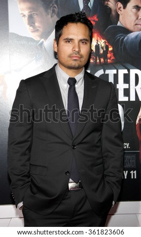 "Michael Pena at the Los Angeles premiere of ""Gangster Squad"" held at the Grauman's Chinese Theatre in Los Angeles, USA on January 7, 2013. - stock photo"
