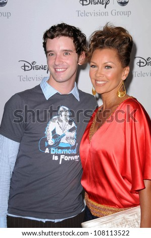 "Michael Urie and Vanessa Williams  at Disney and ABC's ""TCA All Star Party"". Beverly Hilton Hotel, Beverly Hills, CA. 07-17-08 - stock photo"