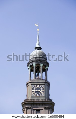 Michel (St. Michaelis) Church In Hamburg, Germany.