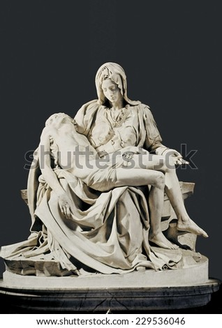 Michelangelo (1475-1564), Pieta, 1498-1499, Renaissance art, Cinquecento, Sculpture on marble - stock photo