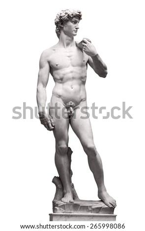 Michelangelo's David on Piazza della Signoria - stock photo