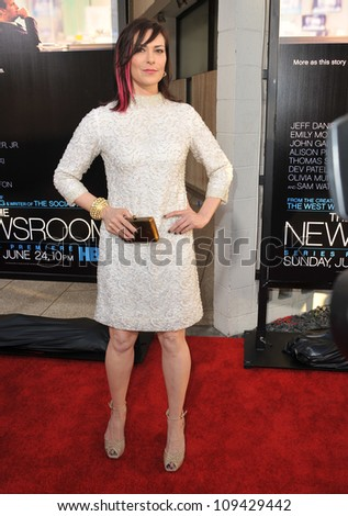 """Michelle Forbes at the Los Angeles premiere for HBO's new series """"The Newsroom"""" at the Cinerama Dome, Hollywood. June 21, 2012  Los Angeles, CA Picture: Paul Smith / Featureflash - stock photo"""
