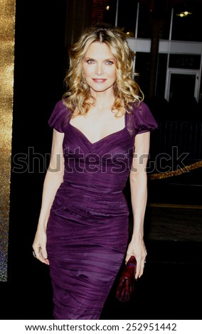 "Michelle Pfeiffer at the Los Angeles Premiere of ""New Year's Eve"" held at the Grauman's Chinese Theater in Los Angeles, California, United States on December 5, 2011.  - stock photo"