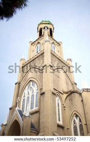 Mickve Israel Temple - stock photo