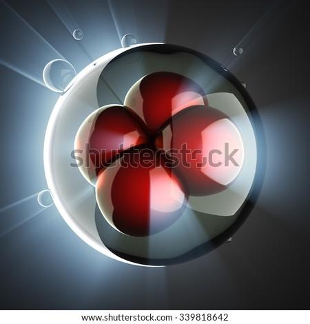 micro cell scientific illustration - stock photo