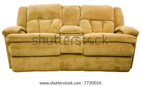 Micro Fiber Double Reclining Loveseat with Cup Holders