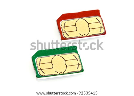 Micro SIM Cards - stock photo