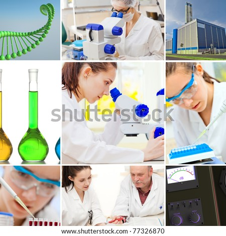 microbiology industrial  set - stock photo