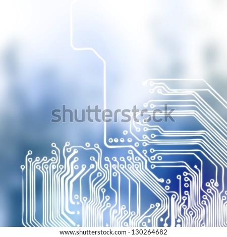 Microchip background - close-up of electronic circuit board with processor