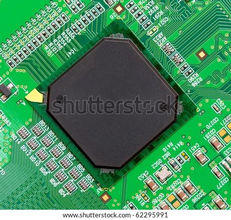 microelectronics - stock photo
