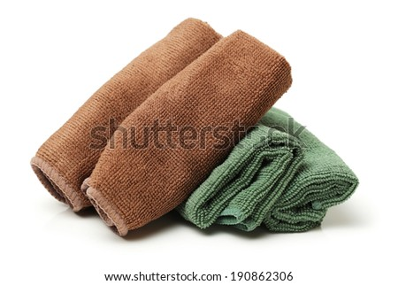 microfiber cleaning cloth on white background
