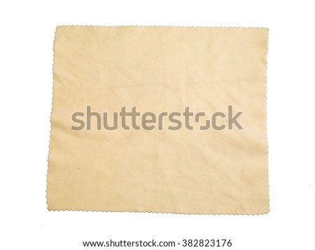 microfiber duster isolated on white background - stock photo