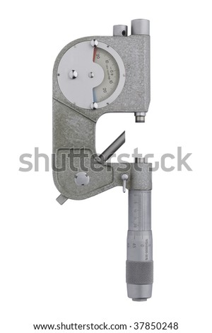 micrometer on white background